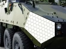 Composite armor systems used in ground vehicles, helicopters, ships and mobile containers